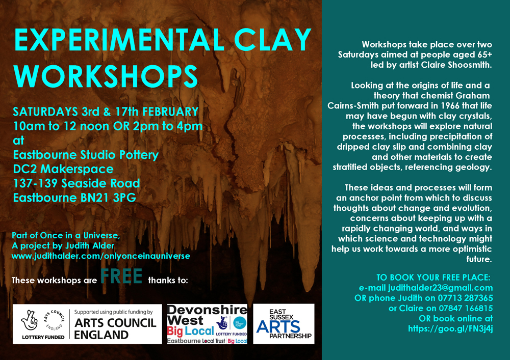 EXPERIMENTAL CLAY WORKSHOPS FOR PEOPLE OVER 65