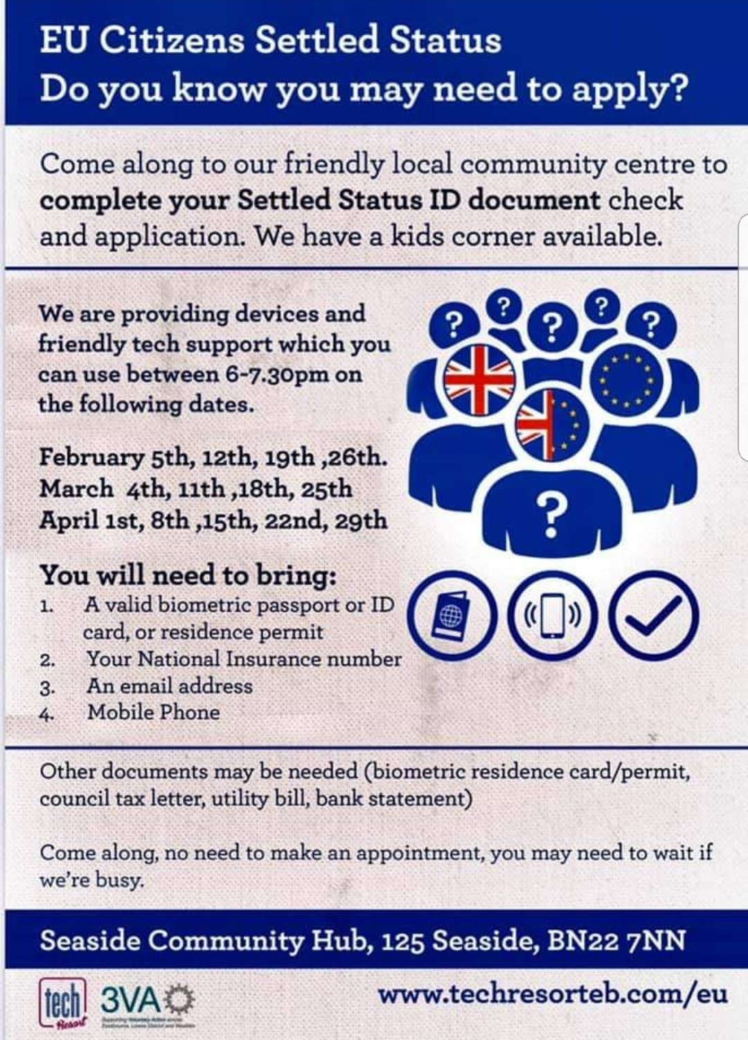 EU Citizen Settled Status : Do You Need To Apply? At Seaside Community Hub