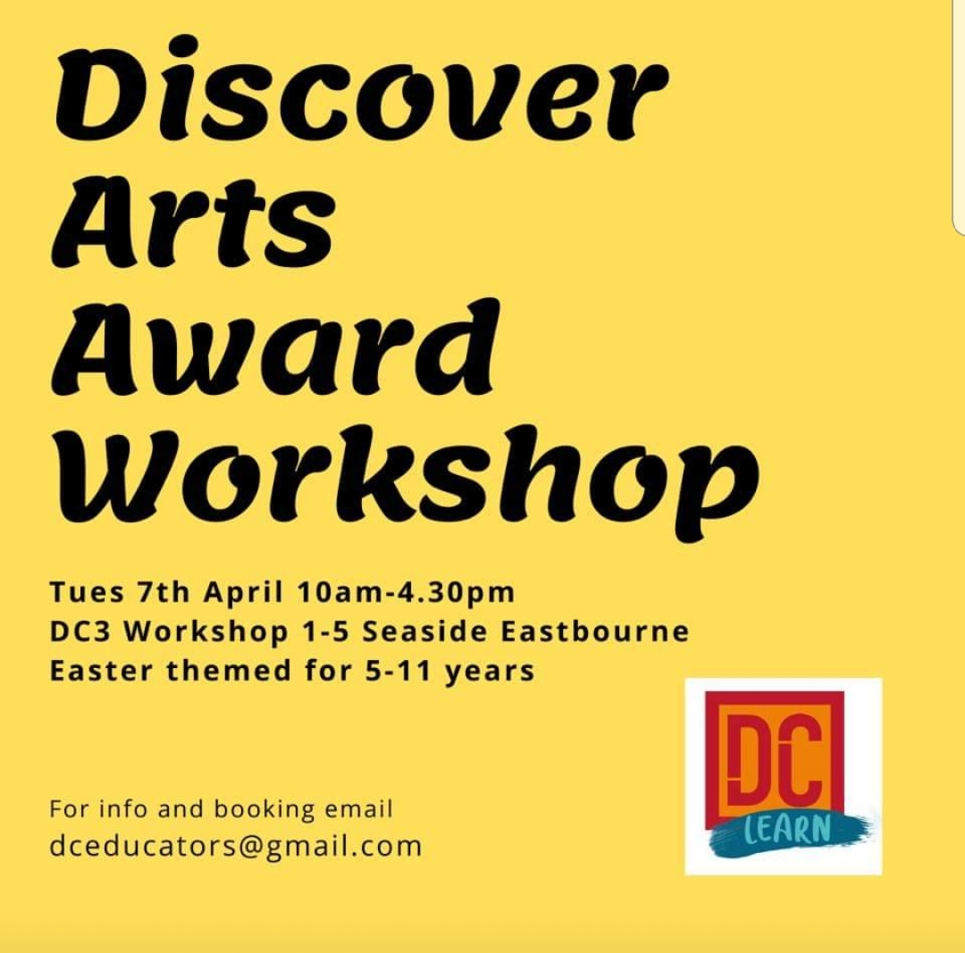 One Day Discover Arts Award Workshop – Easter Themed at DC3 0n Tues 7th Apr 10am – 4.30pm